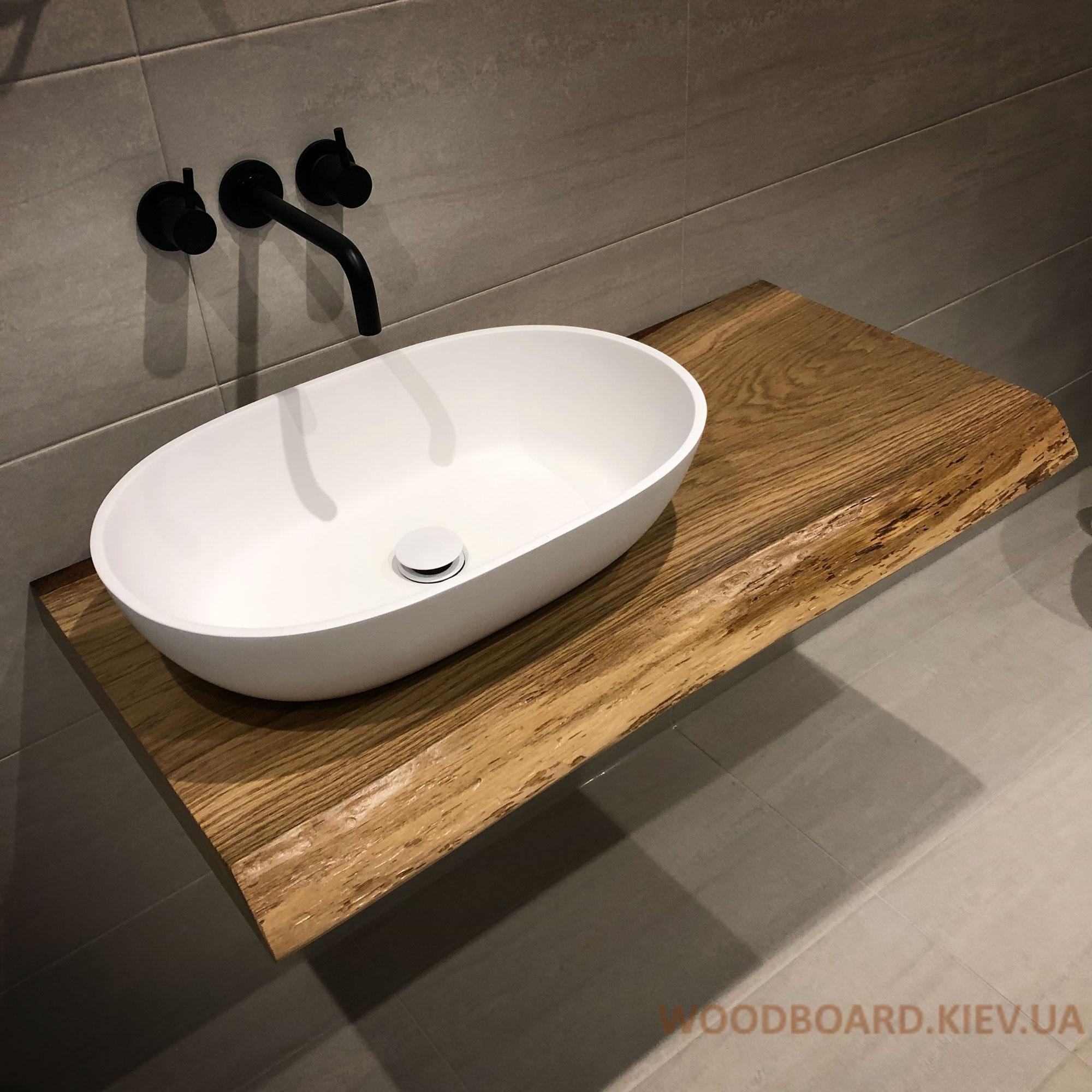Столешницы из дерева в ванную